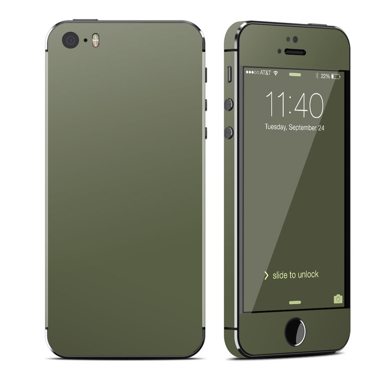 Solid State Olive Drab iPhone SE, 5s Skin