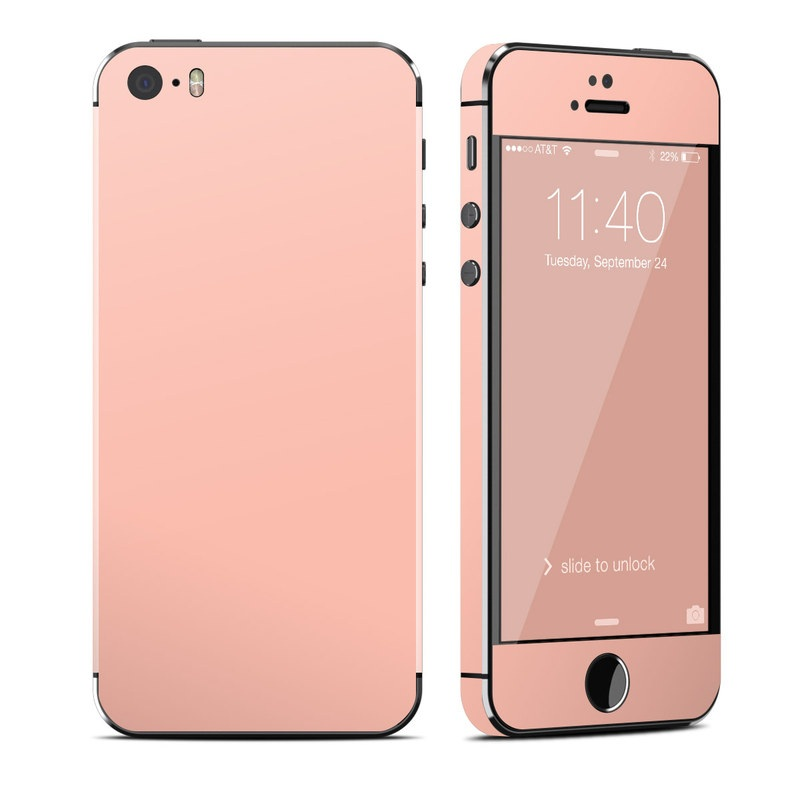 Solid State Peach iPhone SE, 5s Skin