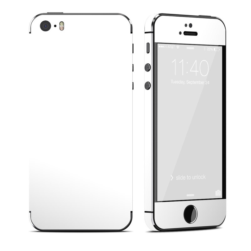 Solid State White iPhone SE, 5s Skin