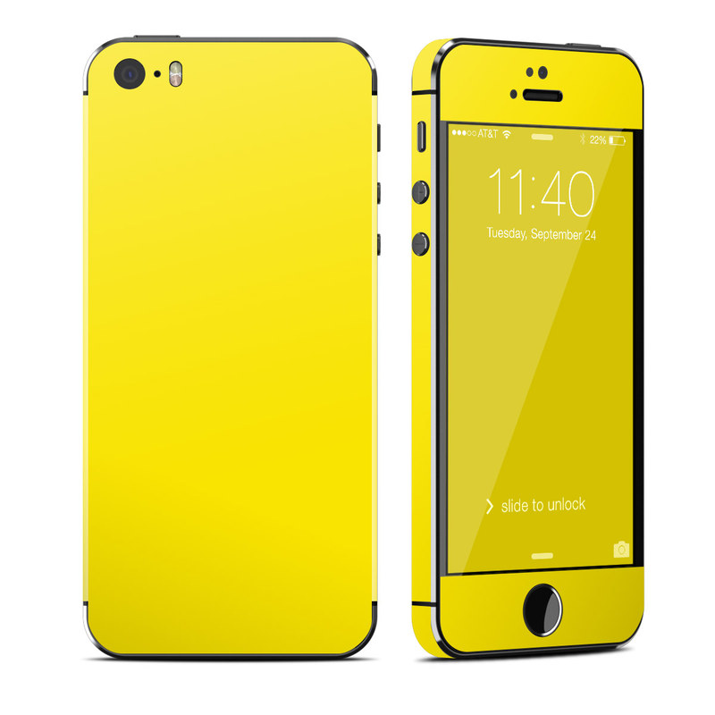 Solid State Yellow iPhone SE, 5s Skin