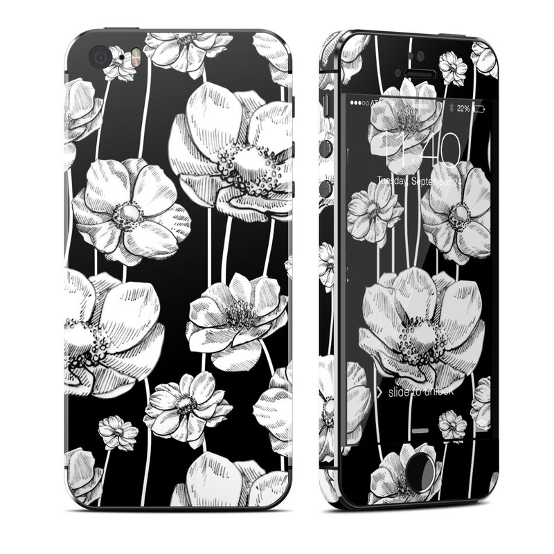 Striped Blooms iPhone SE, 5s Skin
