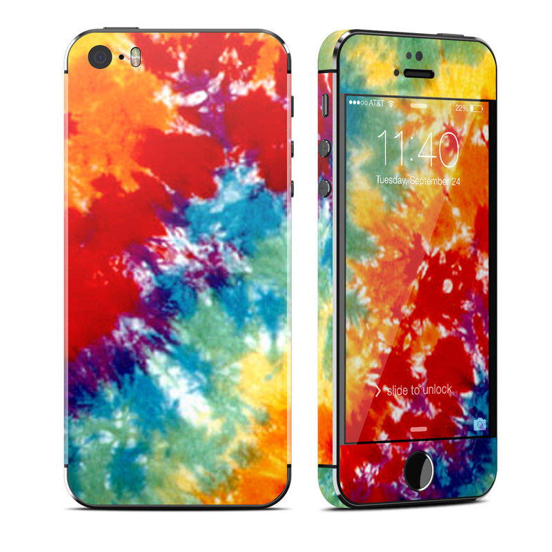 iPhone SE 1st Gen, 5s Skin design of Orange, Watercolor paint, Sky, Dye, Acrylic paint, Colorfulness, Geological phenomenon, Art, Painting, Organism with red, orange, blue, green, yellow, purple colors