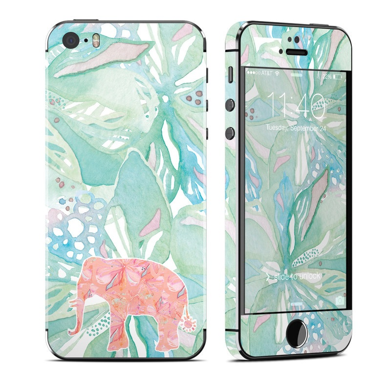 Tropical Elephant iPhone SE, 5s Skin