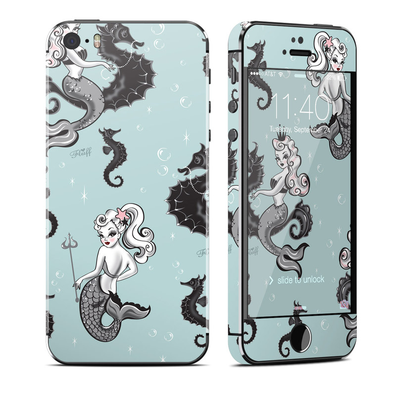 Vintage Mermaid iPhone SE, 5s Skin