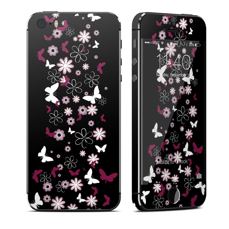 iPhone SE, 5s Skin design of Christmas tree, Pink, Christmas decoration, Tree, Plant, Branch, Magenta, Interior design, Holiday ornament, Font with black, gray colors