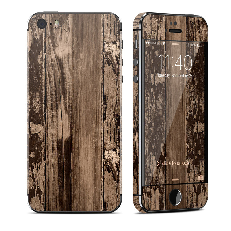 Weathered Wood iPhone SE, 5s Skin