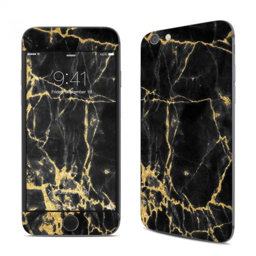 Black Gold Marble iPhone 6s Skin