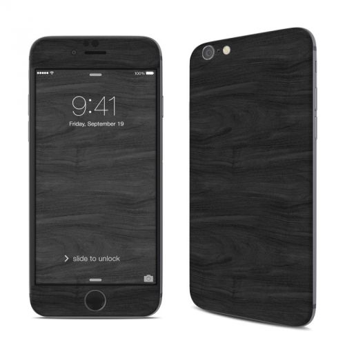 Black Woodgrain iPhone 6s Skin