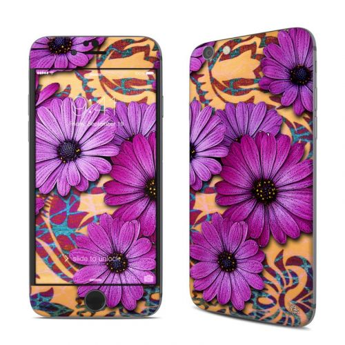 Purple Daisy Damask iPhone 6s Skin