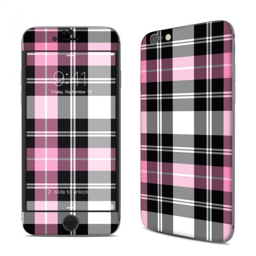 Pink Plaid iPhone 6s Skin