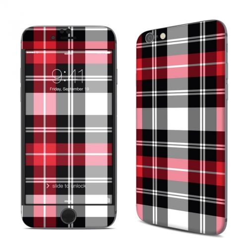 Red Plaid iPhone 6s Skin