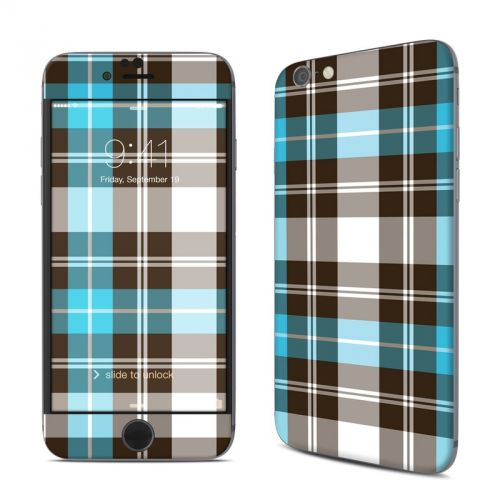 Turquoise Plaid iPhone 6s Skin