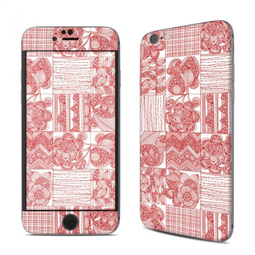 Red Quilt iPhone 6s Skin