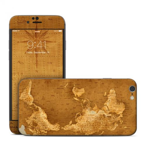 Upside Down Map iPhone 6s Skin