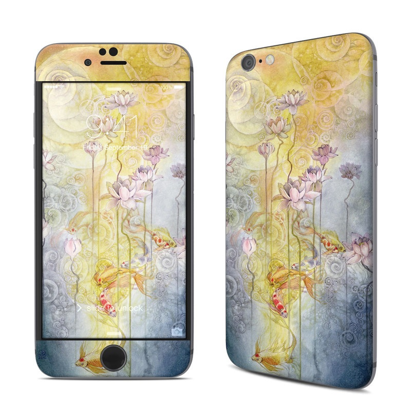 iPhone 6s Skin design of Watercolor paint, Painting, Art, Yellow, Flower, Acrylic paint, Floral design, Visual arts, Modern art, Illustration with blue, red, orange, pink, yellow colors