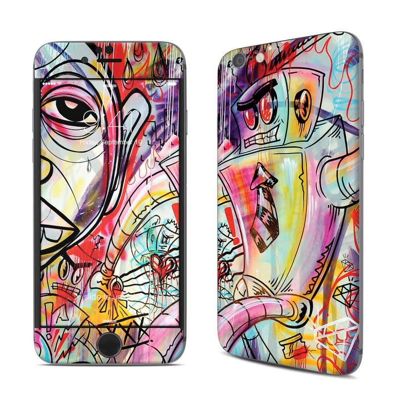 iPhone 6s Skin design of Modern art, Graffiti, Street art, Art, Mural, Visual arts, Psychedelic art, Painting, Drawing, Illustration with blue, red, yellow, orange, purple colors