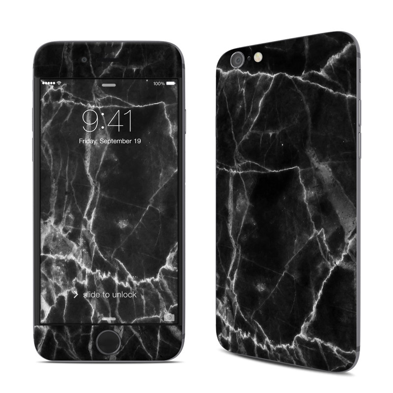 size 40 a9f1a 45827 Black Marble iPhone 6s Skin
