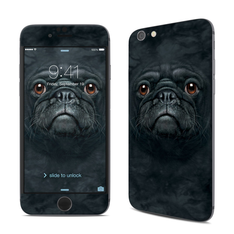 Black Pug iPhone 6s Skin