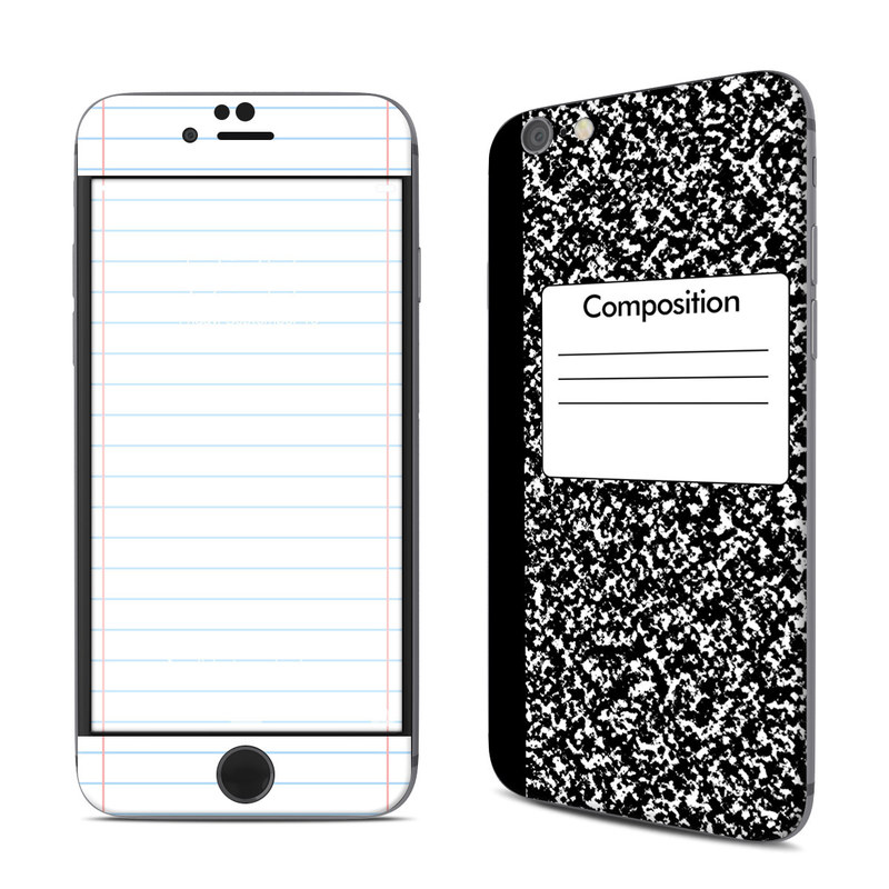 iPhone 6s Skin design of Text, Font, Line, Pattern, Black-and-white, Illustration with black, gray, white colors
