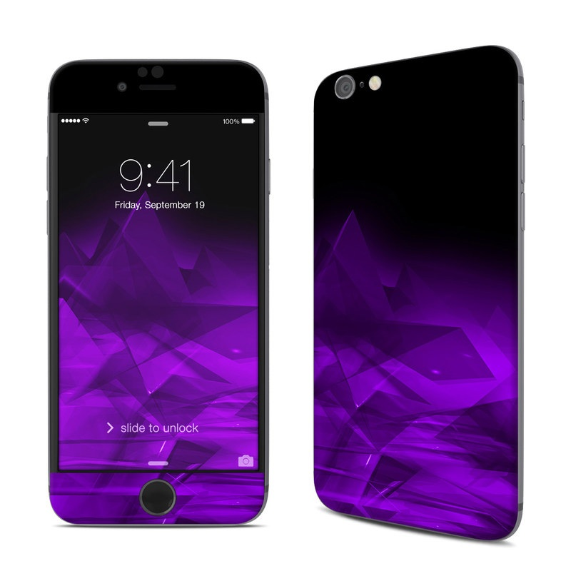 iPhone 6s Skin design of Violet, Purple, Pink, Magenta, Blue, Light, Red, Lilac, Petal, Electric blue with black, purple colors