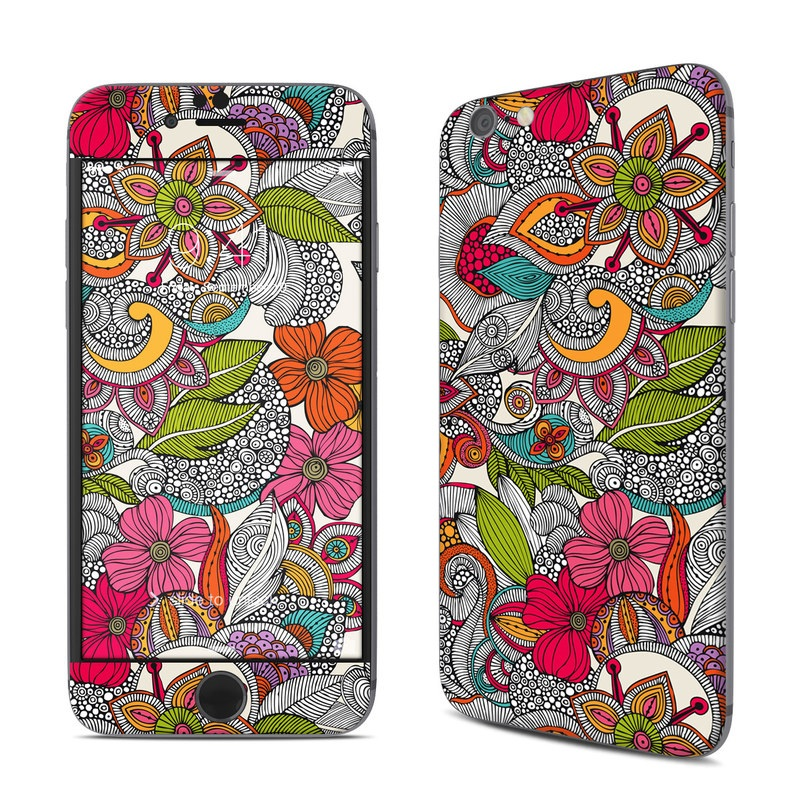 iPhone 6s Skin design of Pattern, Drawing, Visual arts, Art, Design, Doodle, Floral design, Motif, Illustration, Textile with gray, red, black, green, purple, blue colors