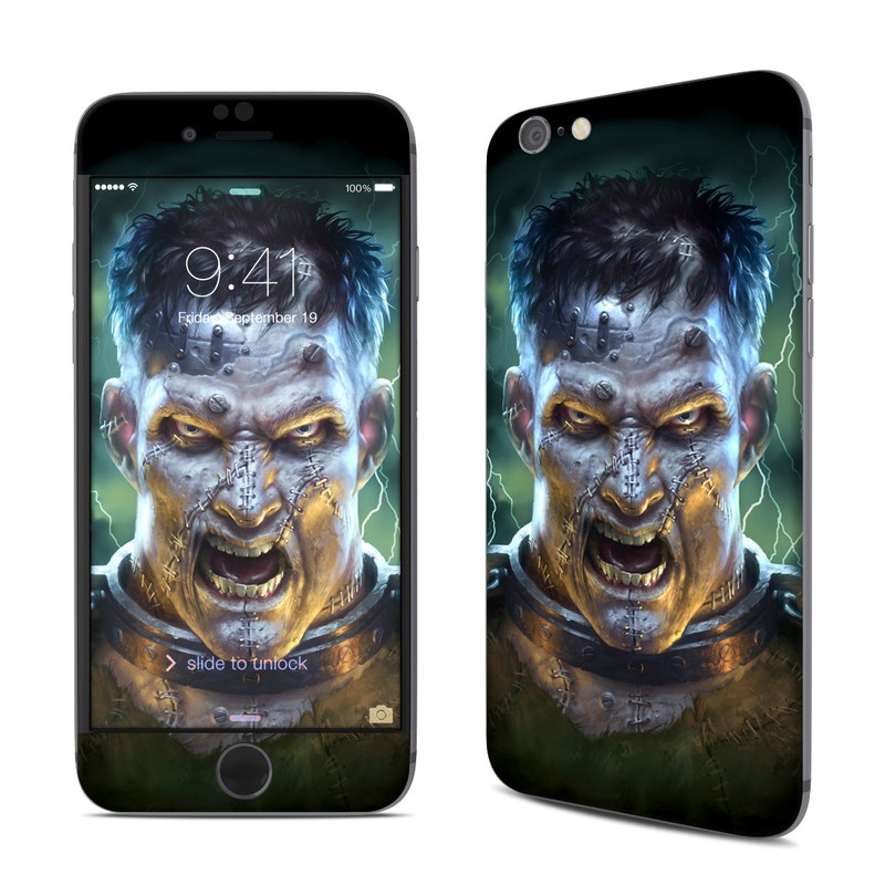 iPhone 6s Skin design of Fictional character, Illustration, Human, Art, Darkness, Jaw, Movie, Fiction with black, yellow, white, green, orange colors