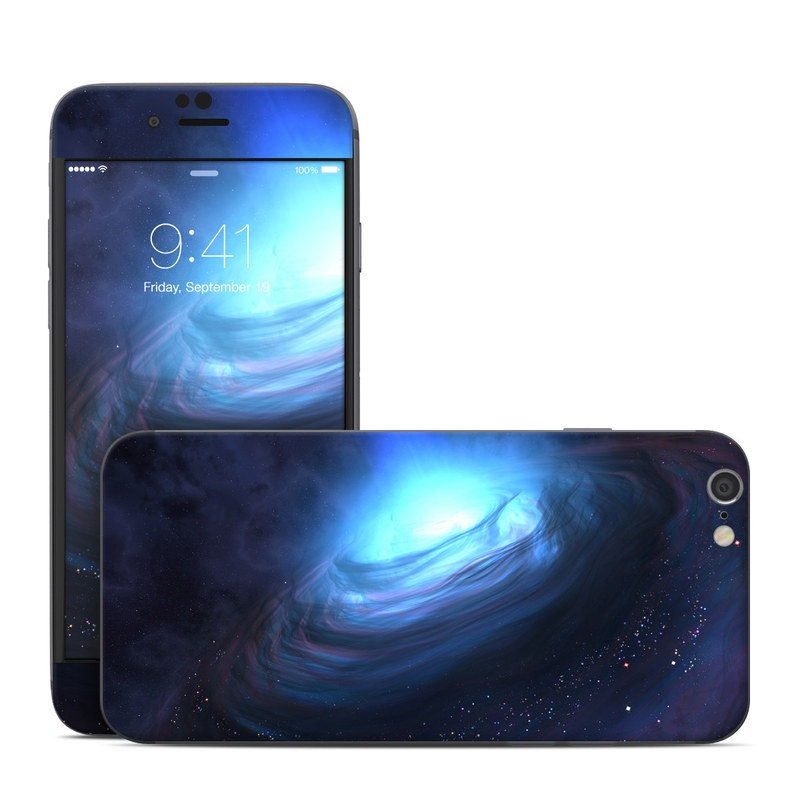 iPhone 6s Skin design of Blue, Outer space, Light, Sky, Atmosphere, Space, Universe, Astronomical object, Darkness, Graphics with black, blue, purple colors
