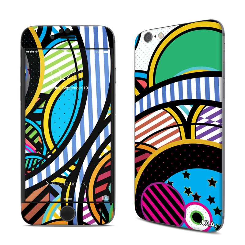 iPhone 6s Skin design of Psychedelic art, Pattern, Line, Graphic design, Visual arts, Design, Art, Illustration, Circle, Graphics with black, blue, green, white, gray, red colors
