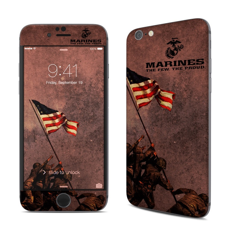 iPhone 6s Skin design of Flag, Font, Red flag, Veterans day, Illustration with black, red colors