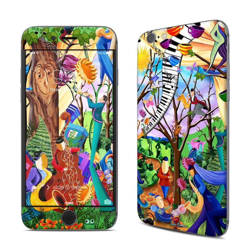 iPhone 6s Skin design of Modern art, Art, Mural, Painting, Psychedelic art, Visual arts, Tree, Child art, Organism, Plant with black, gray, red, green, blue colors
