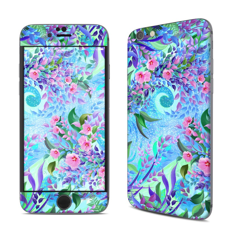 iPhone 6s Skin design of Psychedelic art, Pattern, Lilac, Purple, Art, Pink, Design, Fractal art, Visual arts, Organism with gray, blue, purple colors
