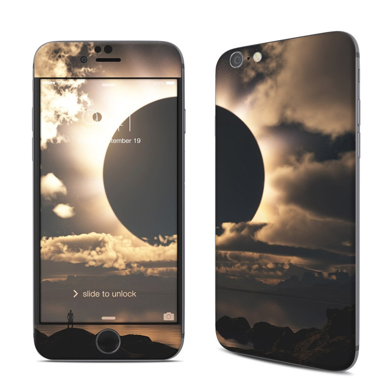iPhone 6s Skin design of Sky, Cloud, Daytime, Eclipse, Atmosphere, Cumulus, Sunlight, Sun, Astronomical object, Celestial event with black, red, green, gray, pink, yellow colors