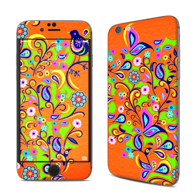 Orange Squirt iPhone 6s Skin