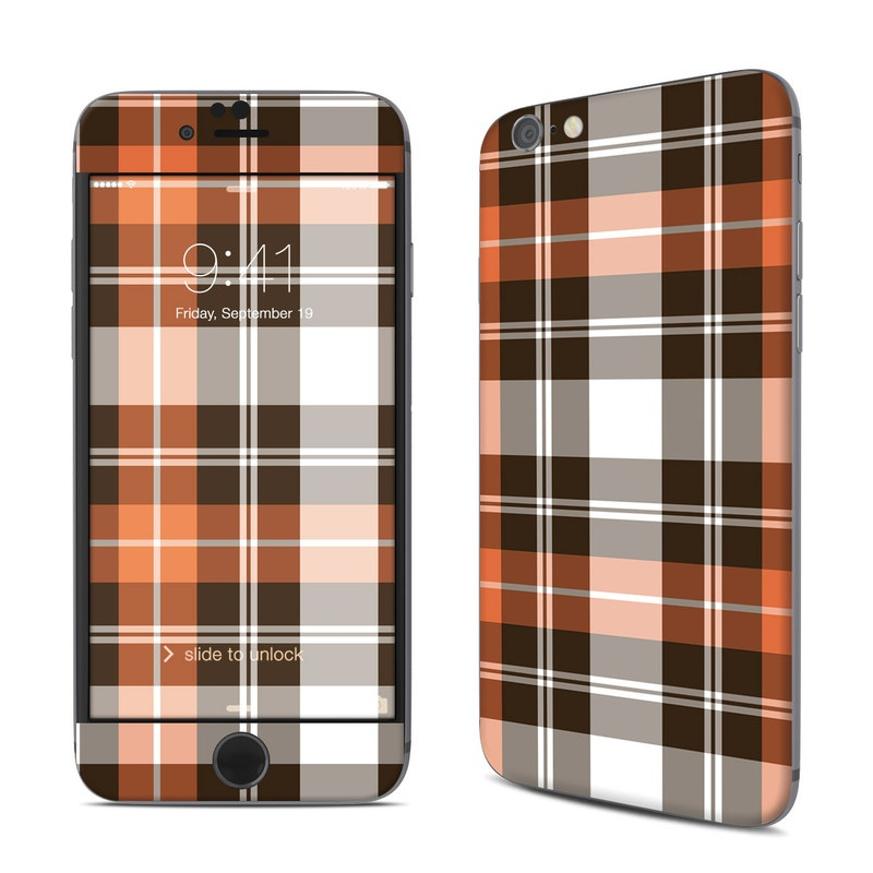 Copper Plaid iPhone 6s Skin