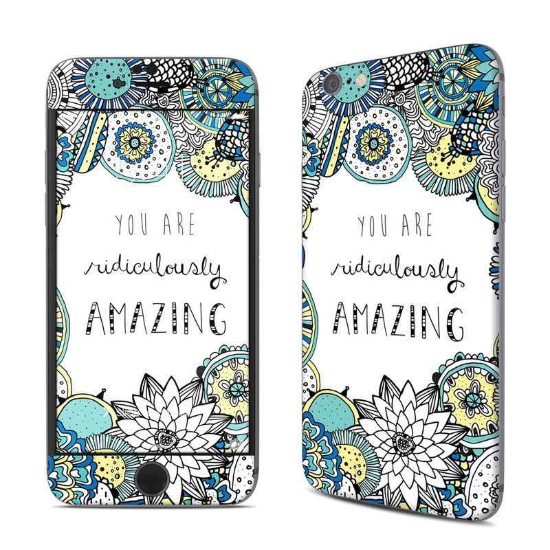 iPhone 6s Skin design of Pattern, Design, Visual arts, Doodle, Illustration, Art with gray, white, black, blue, green colors