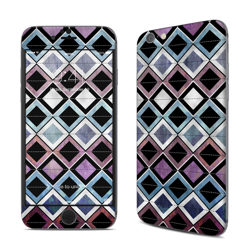 iPhone 6s Skin design of Pattern, Purple, Symmetry, Violet, Line, Design, Triangle, Architecture, Magenta with black, gray, blue, purple, red colors