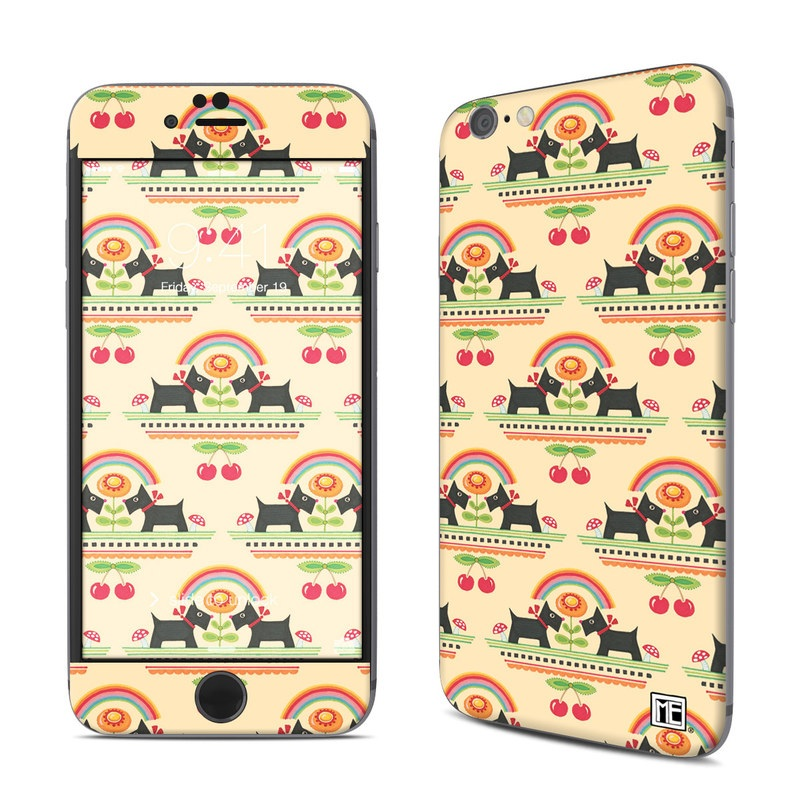 iPhone 6s Skin design of Yellow, Pattern, Line, Textile, Design with pink, gray, black, green, orange, red colors