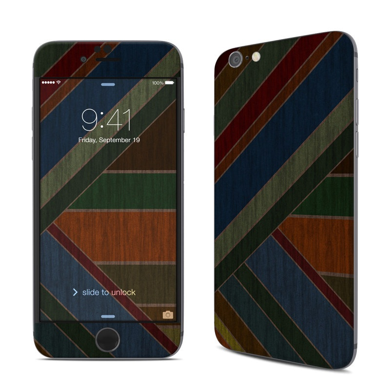 iPhone 6s Skin design of Blue, Orange, Red, Line, Brown, Pattern, Maroon, Design, Textile, Tints and shades with black colors