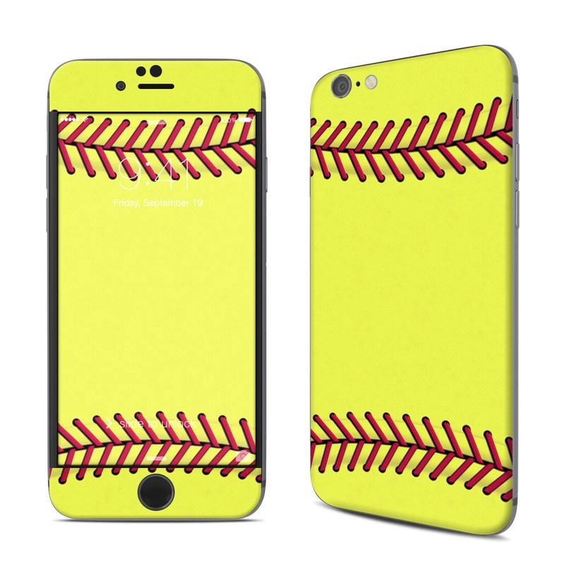 iPhone 6s Skin design of Yellow, Line, Parallel with green, red, black colors