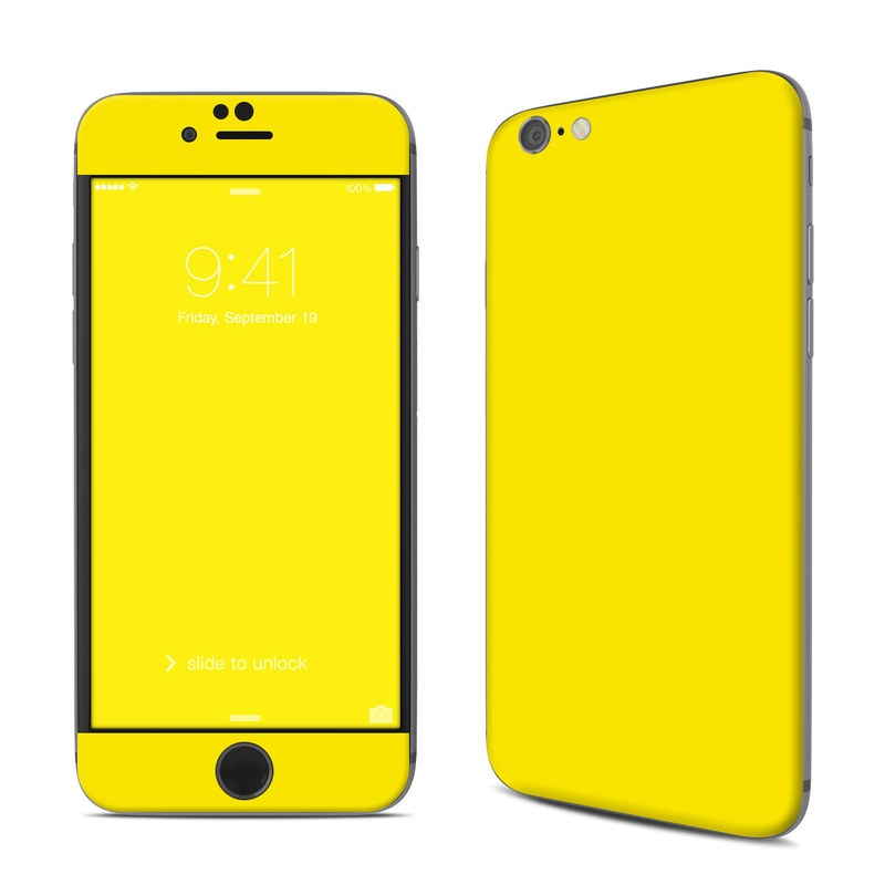 iPhone 6s Skin design of Green, Yellow, Orange, Text, Font with yellow colors