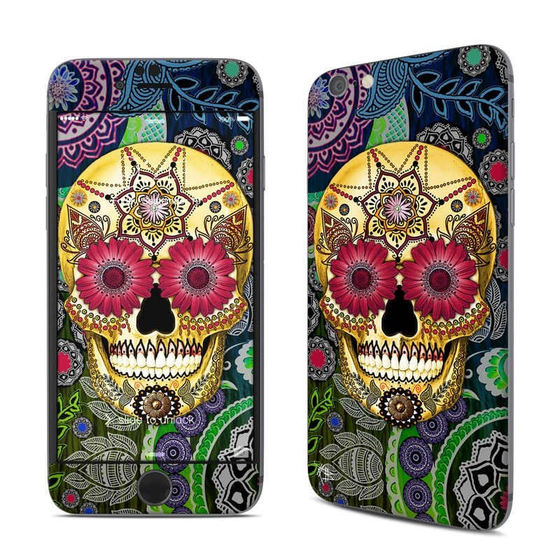 Sugar Skull Paisley iPhone 6s Skin