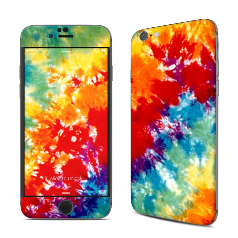 iPhone 6s Skin design of Orange, Watercolor paint, Sky, Dye, Acrylic paint, Colorfulness, Geological phenomenon, Art, Painting, Organism with red, orange, blue, green, yellow, purple colors