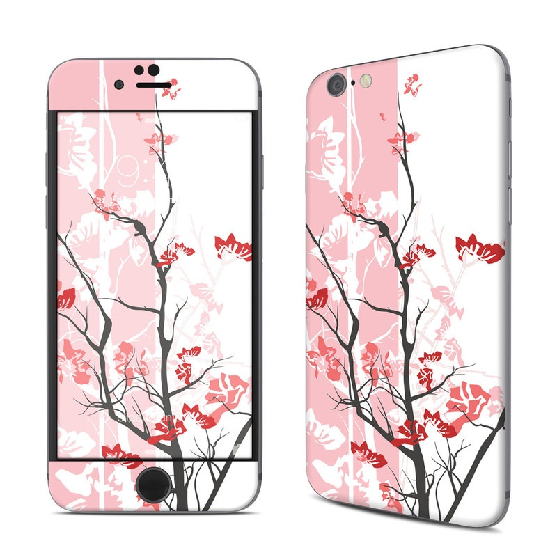 iPhone 6s Skin design of Branch, Red, Flower, Plant, Tree, Twig, Blossom, Botany, Pink, Spring with white, pink, gray, red, black colors