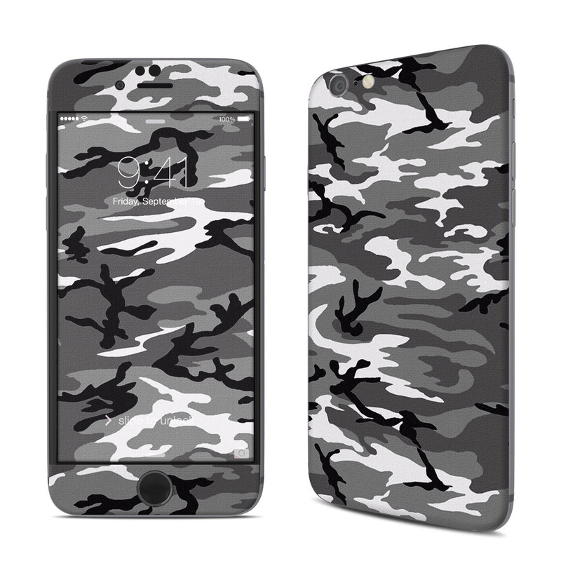 iPhone 6s Skin design of Military camouflage, Pattern, Clothing, Camouflage, Uniform, Design, Textile with black, gray colors