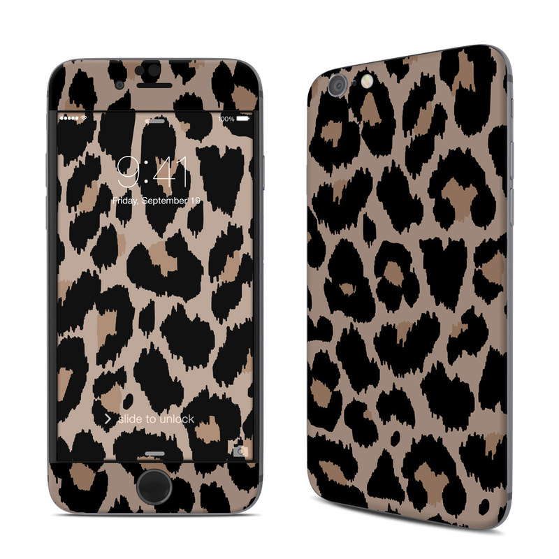 iPhone 6s Skin design of Pattern, Brown, Fur, Design, Textile, Monochrome, Fawn with black, gray, red, green colors
