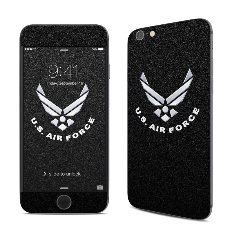 USAF Black iPhone 6s Skin