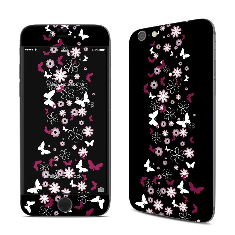 iPhone 6s Skin design of Christmas tree, Pink, Christmas decoration, Tree, Plant, Branch, Magenta, Interior design, Holiday ornament, Font with black, gray colors
