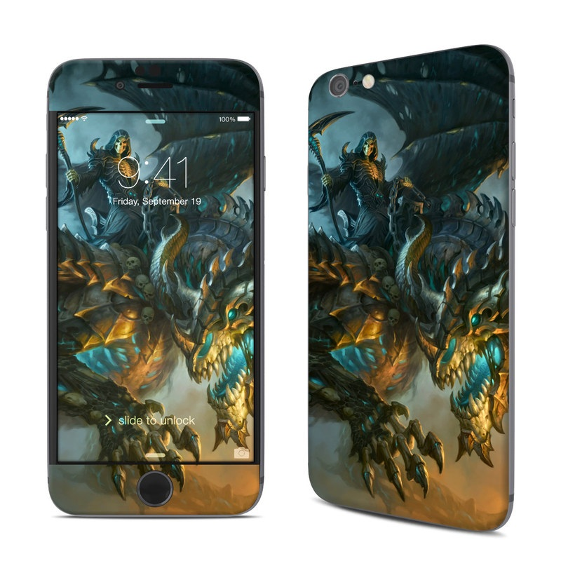 iPhone 6s Skin design of Dragon, Cg artwork, Fictional character, Mythical creature, Demon, Mythology, Illustration, Cryptid, Art with orange, yellow, black, brown, blue, white colors