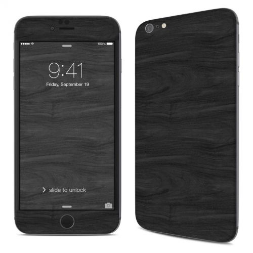 Black Woodgrain iPhone 6s Plus Skin
