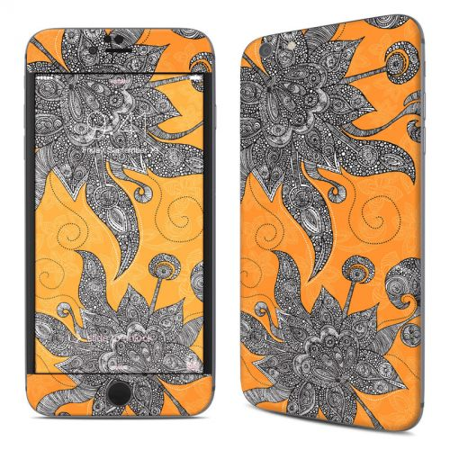 Orange Flowers iPhone 6s Plus Skin